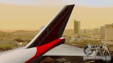 Boeing 747-237B Air India Flight 182 для GTA San Andreas вид сзади слева