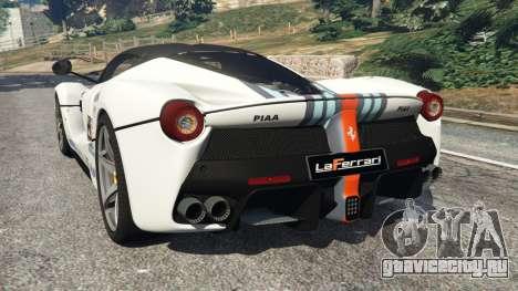 Ferrari LaFerrari 2013 v2.0 для GTA 5 вид сзади слева