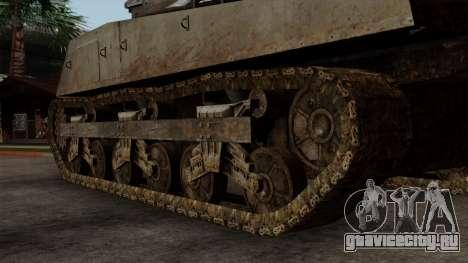 M4 Sherman from CoD World at War для GTA San Andreas вид сзади слева