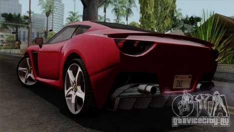 Grotti Carbonizzare FF для GTA San Andreas вид слева
