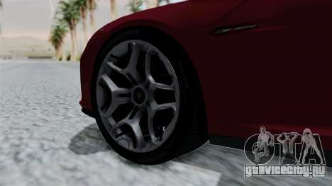 Lamborghini Asterion Concept 2015 v2 для GTA San Andreas вид сзади слева