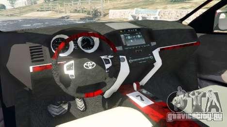 Toyota Avalon 2014 для GTA 5 вид сзади справа