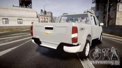Chevrolet S10 LTZ 2014 v0.1 для GTA 4 вид сзади слева