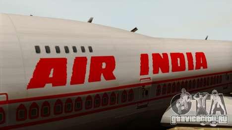 Boeing 747-237B Air India Flight 182 для GTA San Andreas вид сзади