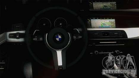 BMW M5 F10 Grey Demon для GTA San Andreas вид изнутри