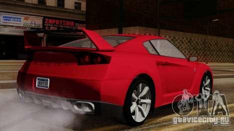 GTA 5 Elegy RH8 для GTA San Andreas вид сзади слева