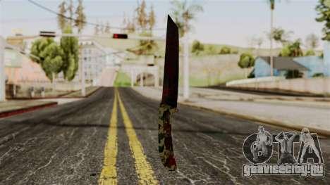 Новый ножик кровавый камуфляж для GTA San Andreas второй скриншот