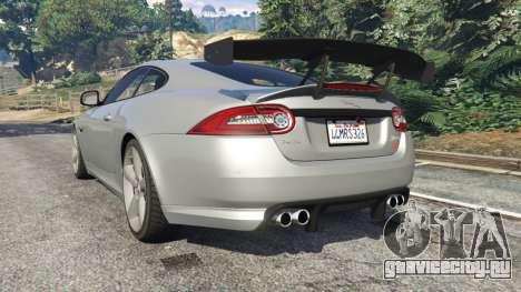 Jaguar XKR-S GT 2013 для GTA 5 вид сзади слева