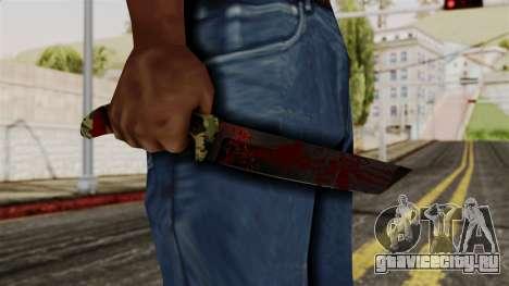 Новый ножик кровавый камуфляж для GTA San Andreas третий скриншот