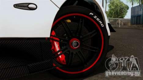 Pagani Zonda Cinque Roadster для GTA San Andreas вид сзади слева