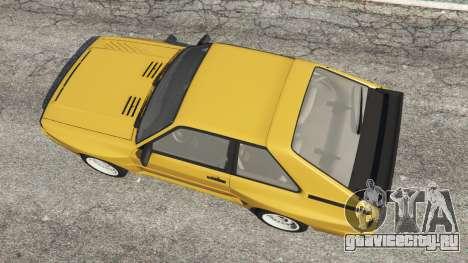 Audi Sport quattro для GTA 5 вид сзади