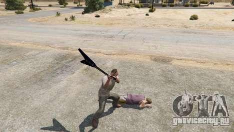 Gibson Flying V для GTA 5 третий скриншот