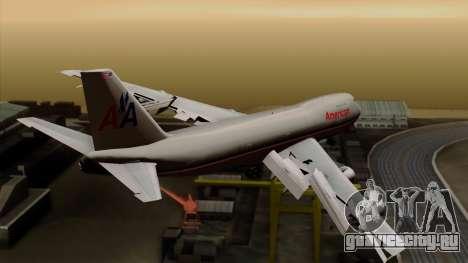 Boeing 747-100 American Airlines для GTA San Andreas вид слева
