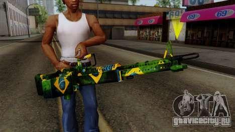 Brasileiro Minigun v2 для GTA San Andreas