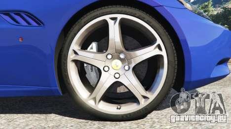 Ferrari California (F149) 2012 [Beta] для GTA 5 вид сзади справа