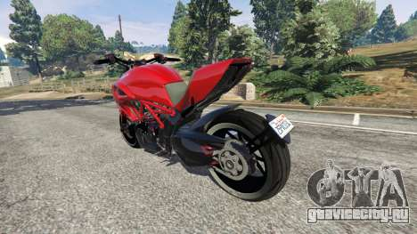Ducati Diavel Carbon 2011 для GTA 5 вид сзади слева