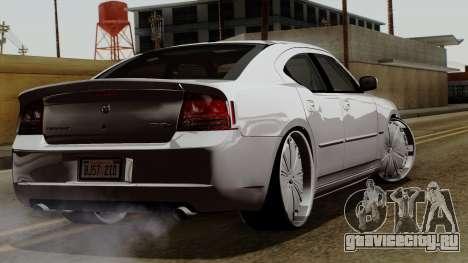 Dodge Charger 2006 DUB для GTA San Andreas вид сзади