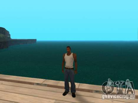 Тёмно-зелёная реалистичная вода для GTA San Andreas третий скриншот
