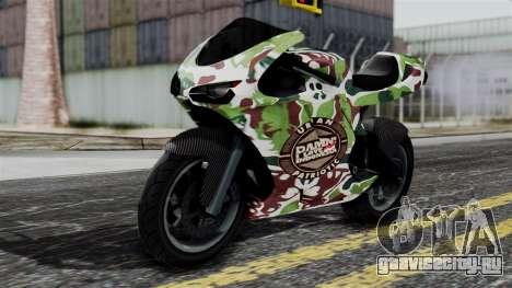 Bati Wayang Camo Motorcycle для GTA San Andreas