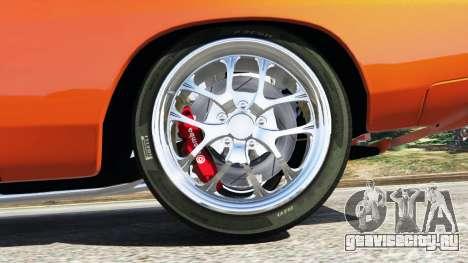 Dodge Charger 1970 Fast & Furious 7 для GTA 5 вид сзади справа