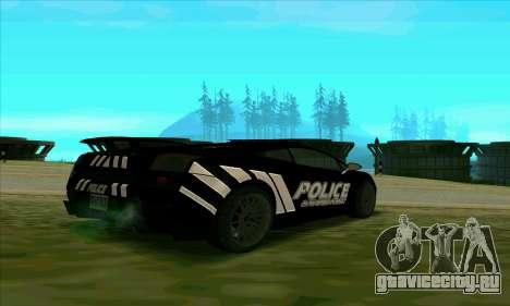 Federal Police Lamborghini Gallardo для GTA San Andreas вид сзади слева