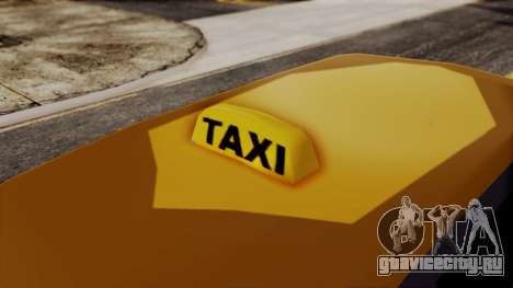 Minivan Cabbie SA Style для GTA San Andreas вид сзади слева