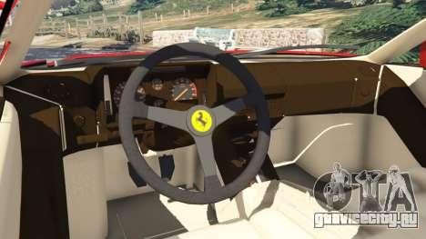 Ferrari Testarossa 1984 для GTA 5 вид сзади справа