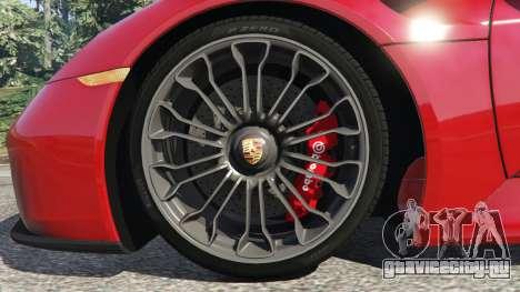 Porsche 918 Spyder 2013 для GTA 5 вид сзади справа
