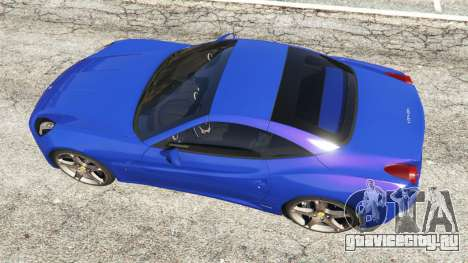 Ferrari California (F149) 2012 [Beta] для GTA 5 вид сзади
