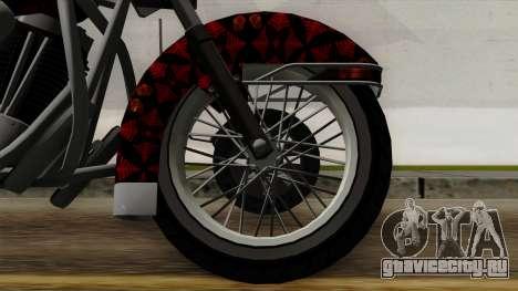 Classic Batik Motorcycle для GTA San Andreas вид сзади слева