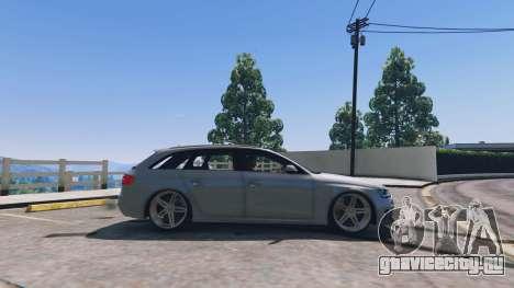 Audi RS4 Avant v1.1 для GTA 5 вид слева