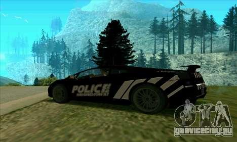 Federal Police Lamborghini Gallardo для GTA San Andreas вид слева
