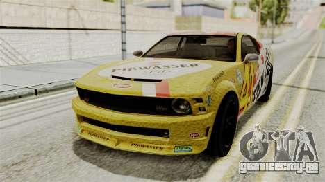 GTA 5 Vapid Dominator SA Style для GTA San Andreas вид сзади