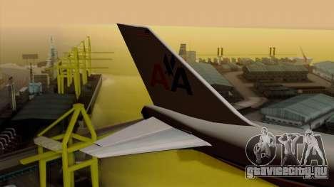 Boeing 747-100 American Airlines для GTA San Andreas вид сзади слева