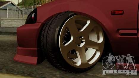 Honda Civic Hatchback B.O. Yapım для GTA San Andreas вид сзади слева