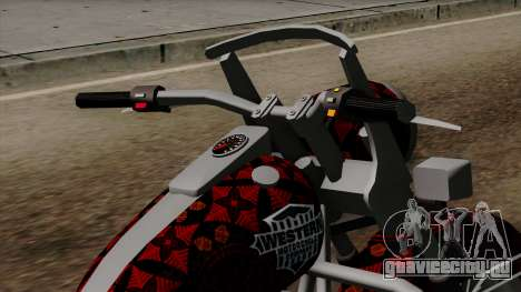 Classic Batik Motorcycle для GTA San Andreas вид справа