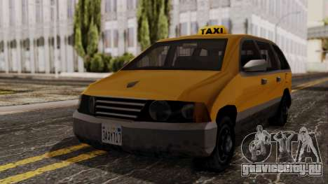 Minivan Cabbie SA Style для GTA San Andreas вид справа