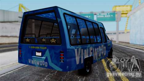 Vinewood VIP Star Tour Bus для GTA San Andreas вид слева