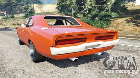 Dodge Charger 1970 Fast & Furious 7 для GTA 5 вид сзади слева