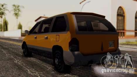 Minivan Cabbie SA Style для GTA San Andreas вид слева