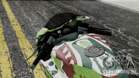 Bati Wayang Camo Motorcycle для GTA San Andreas вид сзади