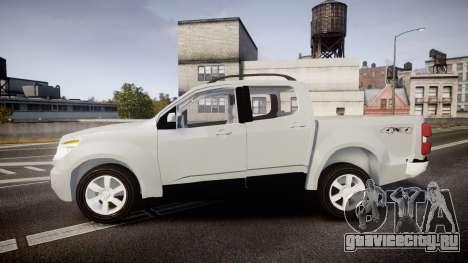 Chevrolet S10 LTZ 2014 v0.1 для GTA 4 вид слева