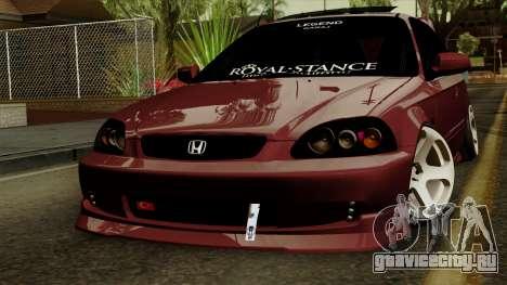 Honda Civic Hatchback B.O. Yapım для GTA San Andreas