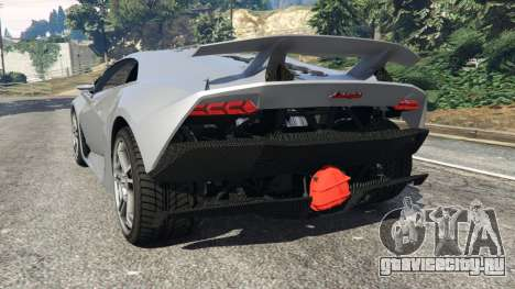 Lamborghini Sesto Elemento v0.5 для GTA 5 вид сзади слева