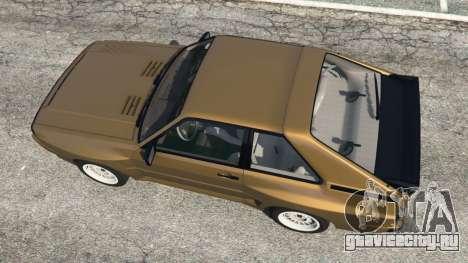 Audi Sport quattro v1.3 для GTA 5 вид сзади