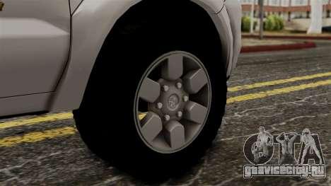 Toyota Hilux CICPC 2007 для GTA San Andreas вид сзади слева