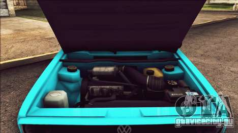Volkswagen Golf MK1 для GTA San Andreas вид изнутри