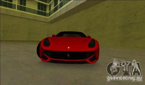 Ferrari F12 Berlinetta для GTA Vice City вид слева