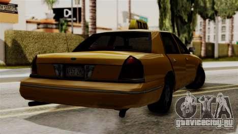Ford Crown Victoria LP v2 Taxi для GTA San Andreas вид сзади слева