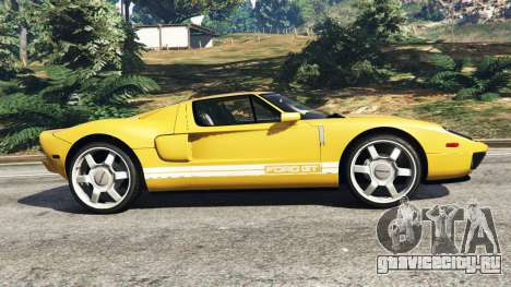 Ford GT 2005 v1.1 для GTA 5 вид слева